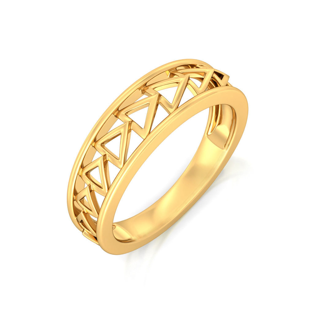 Tripartite Party Gold Rings