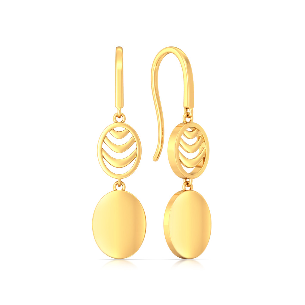 Oval Ambition Gold Earrings