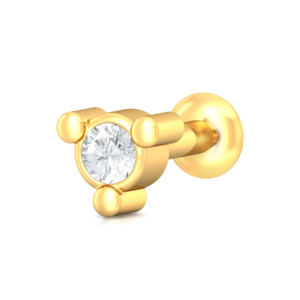 Bonjour Bijou  Diamond Nose Pins