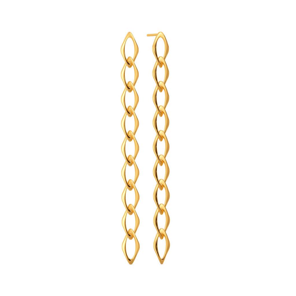 Wink A Link Gold Earrings