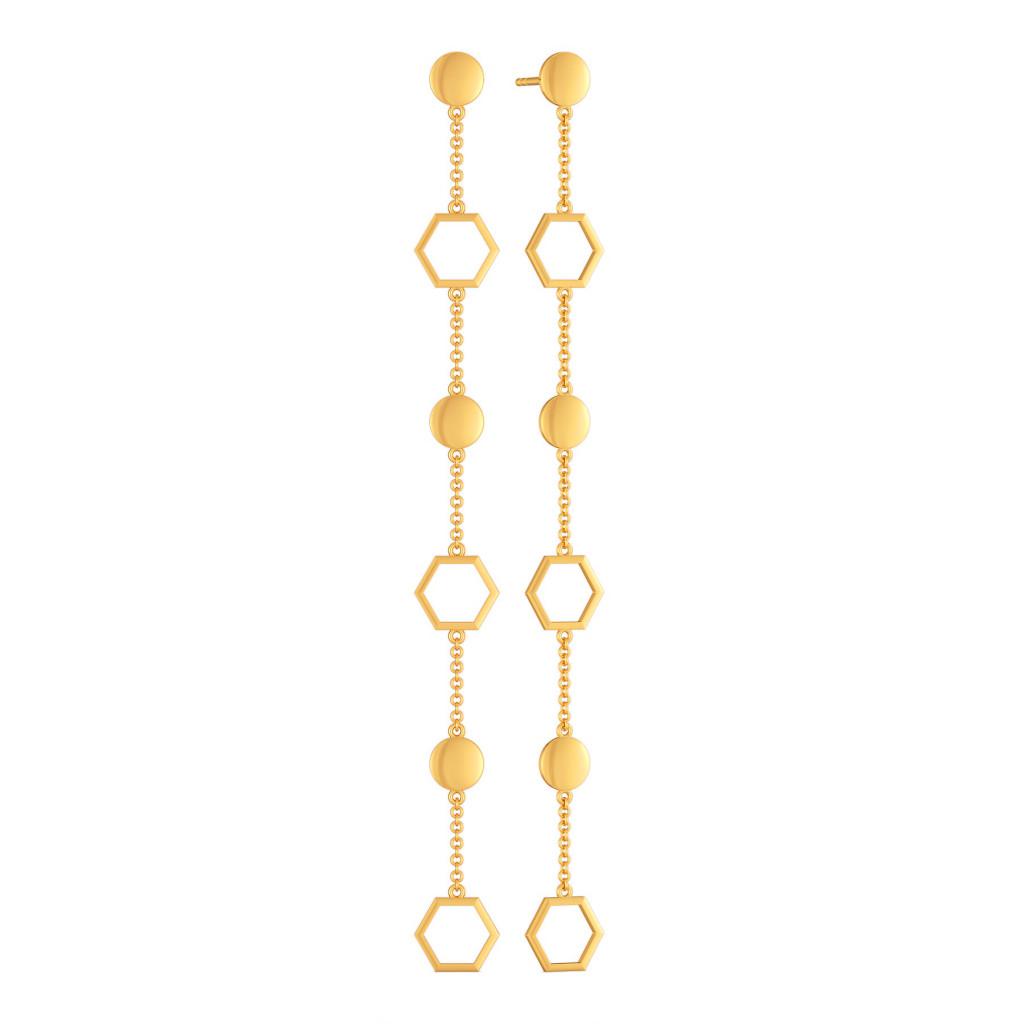 Droopy Loops Gold Earrings