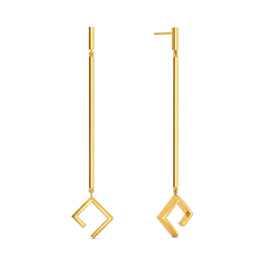 Asymmetric Aura Gold Earrings