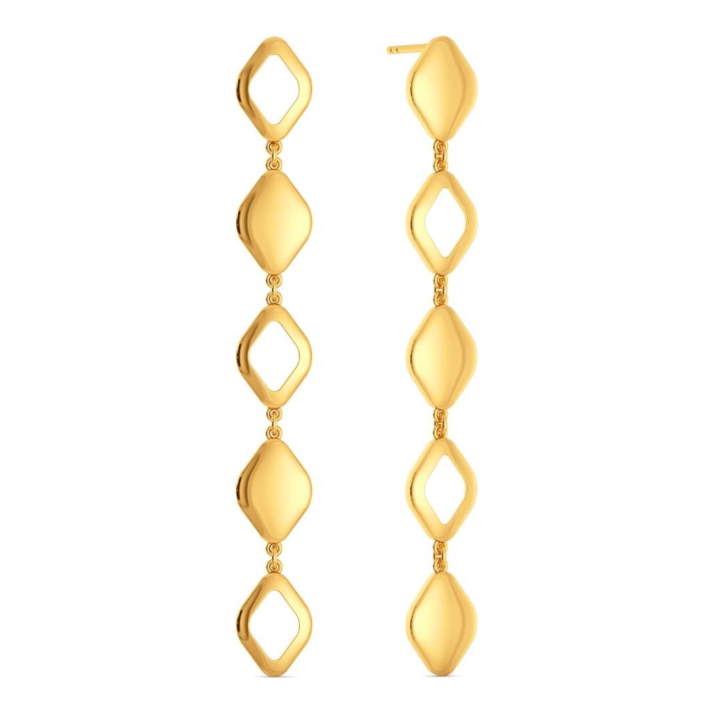 Link N Repeat Gold Earrings