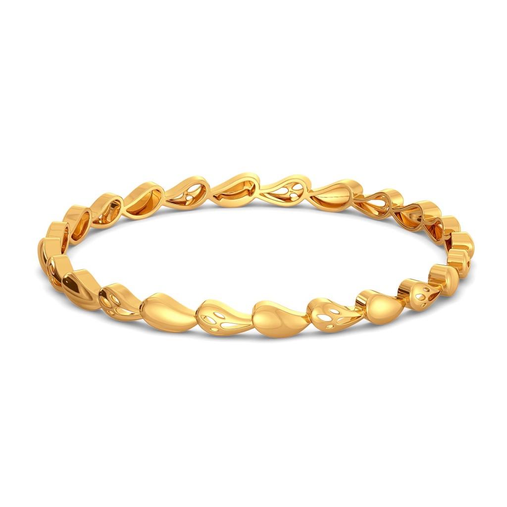 Paisl Gypsy  Gold Bangles