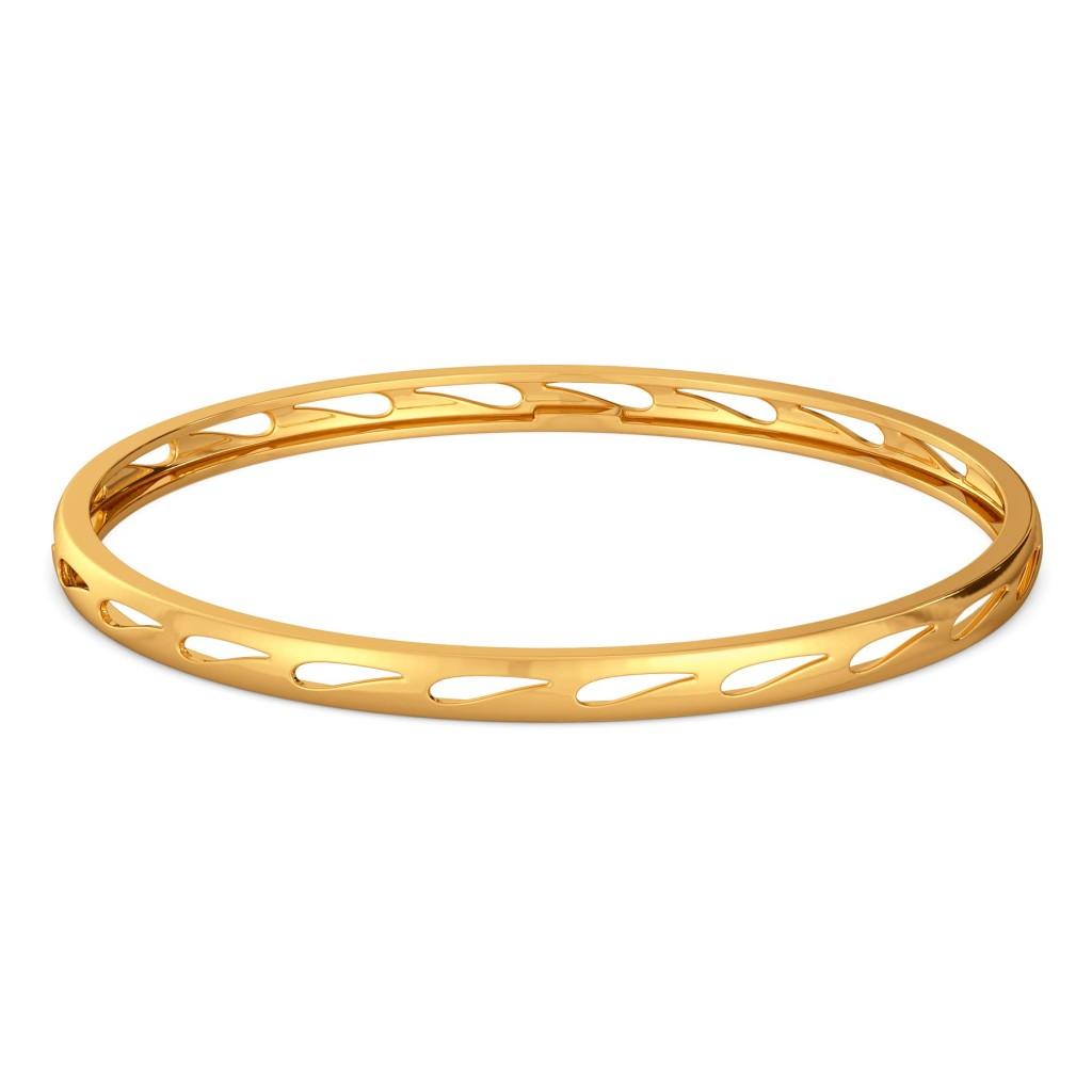 A Paisley Twist Gold Bangles