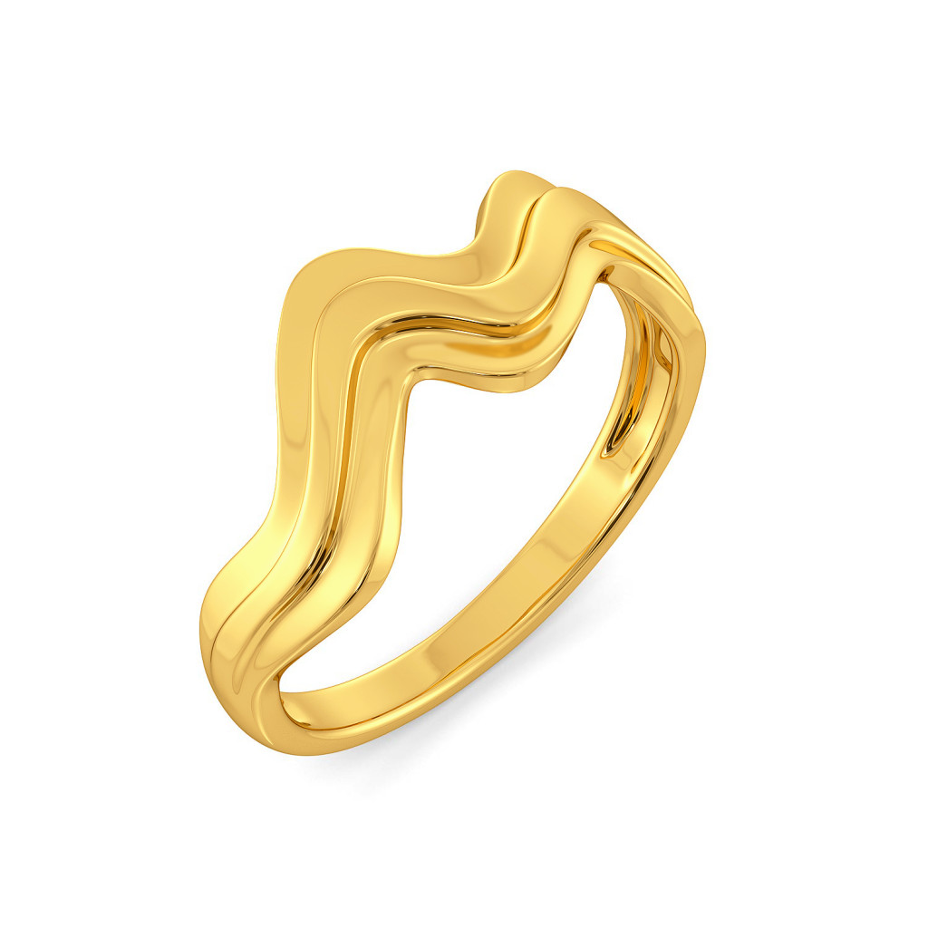 Crimp & Crease Gold Rings