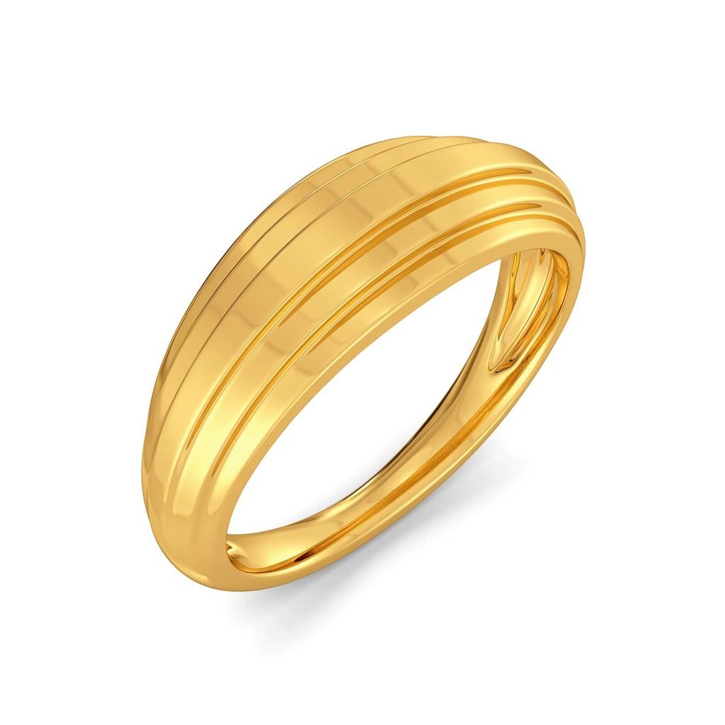 Frill Thrill Gold Rings