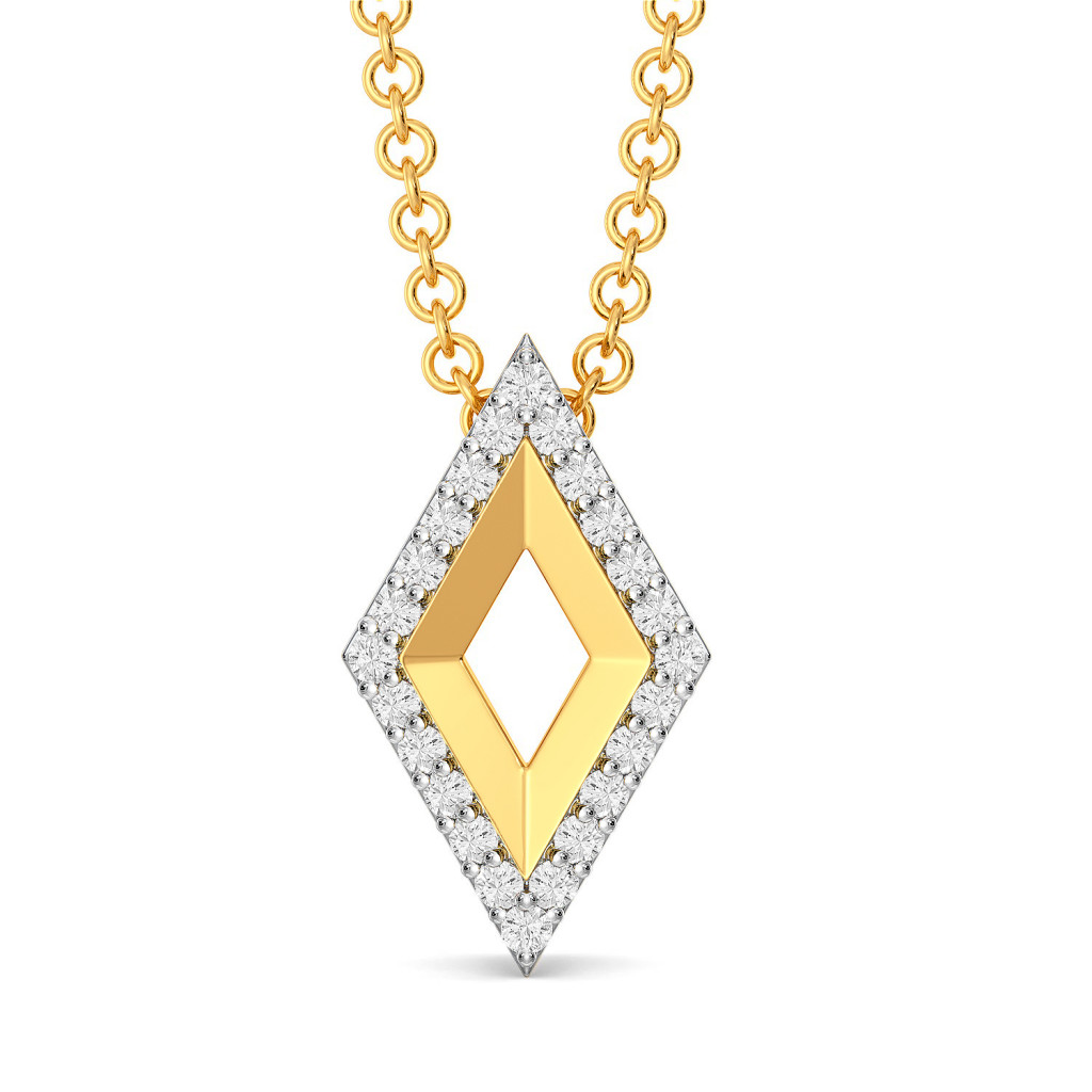 Fluff N Fold Diamond Pendants