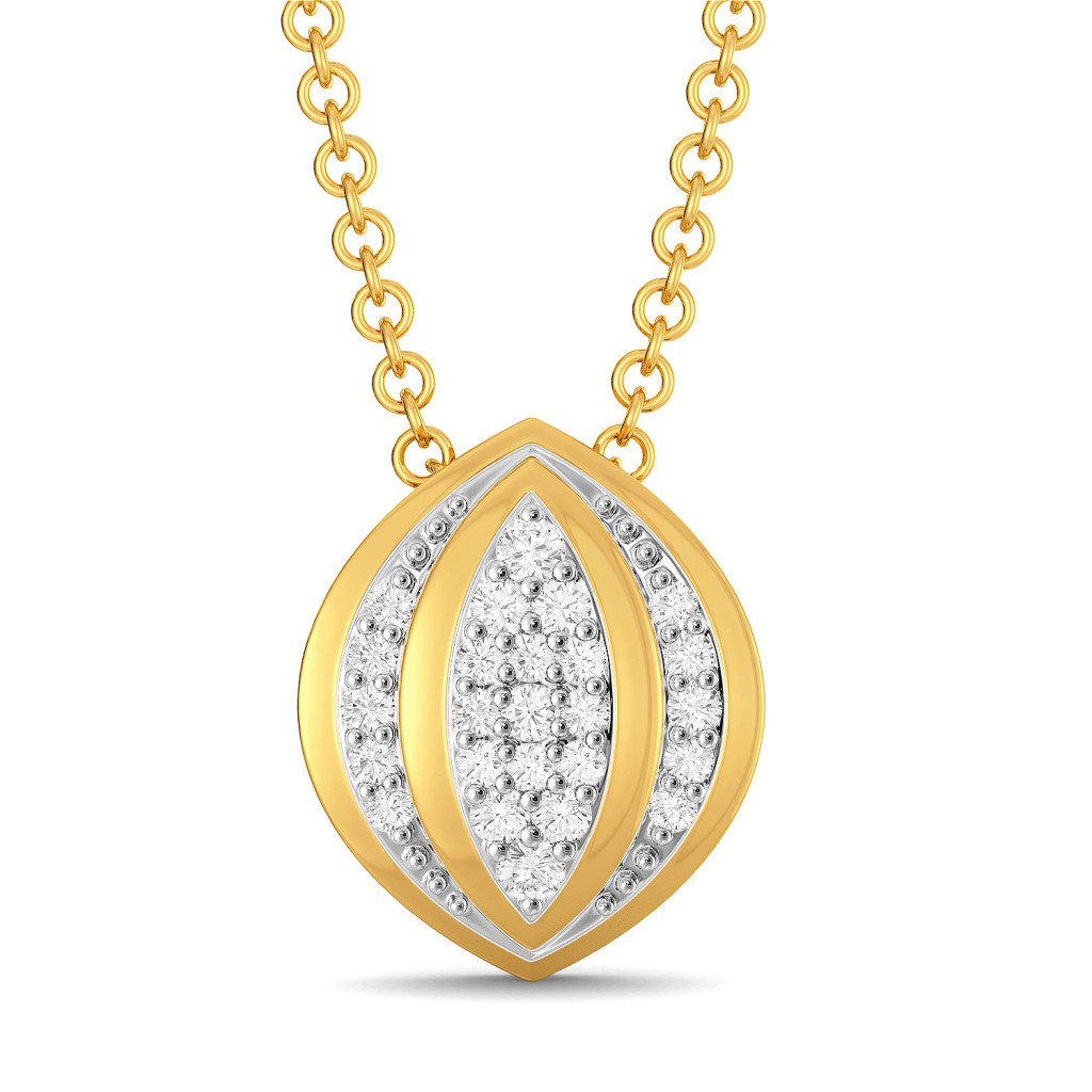 Floral Folds Diamond Pendants