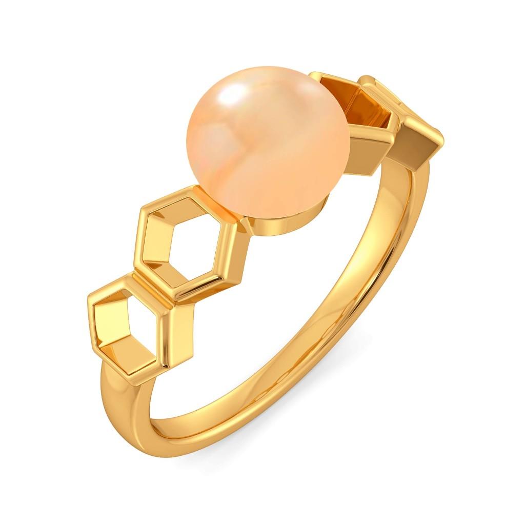 Peachy Vibes Gemstone Rings