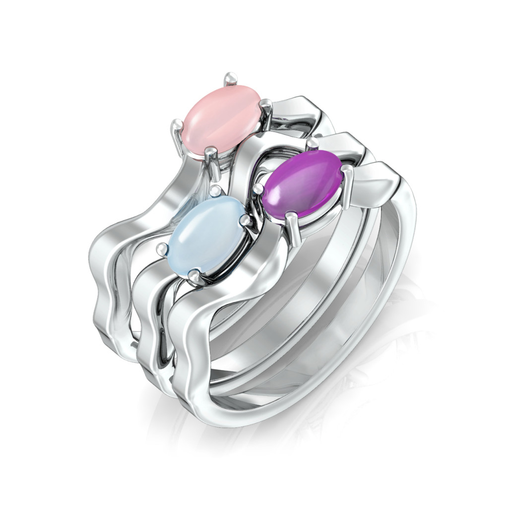 Zigzagger Gemstone Rings