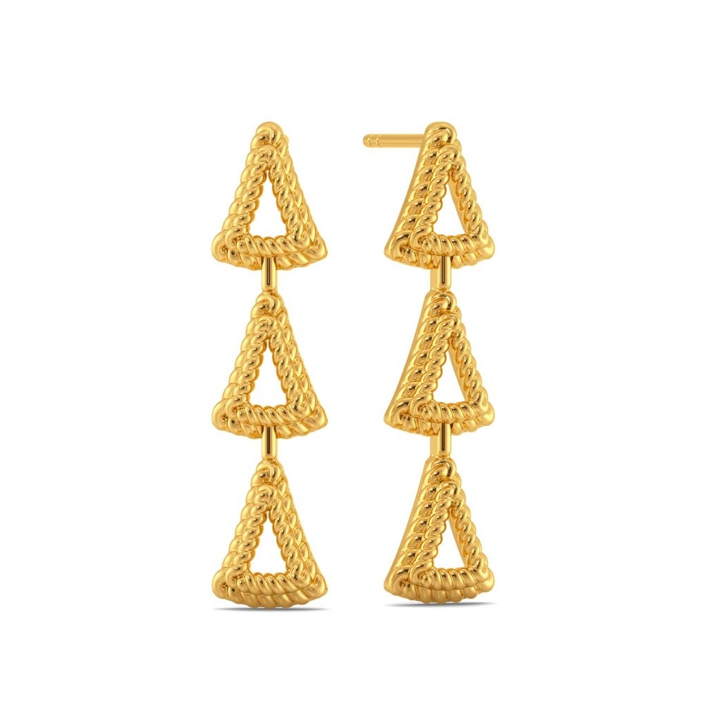 Trinity Fair Gold Earrings