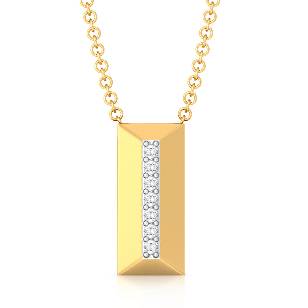 Raising the bar Diamond Pendants