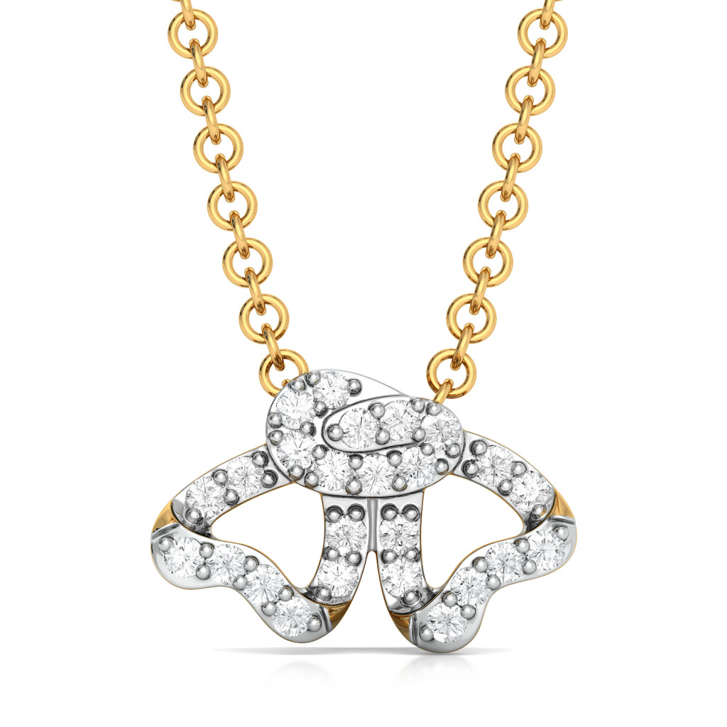 Curl Furl Diamond Pendants