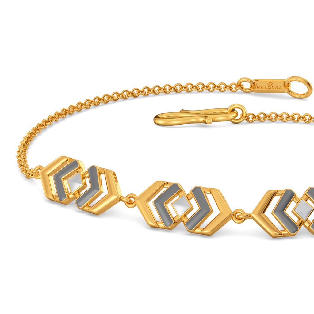 Cross Greys Gold Bracelets