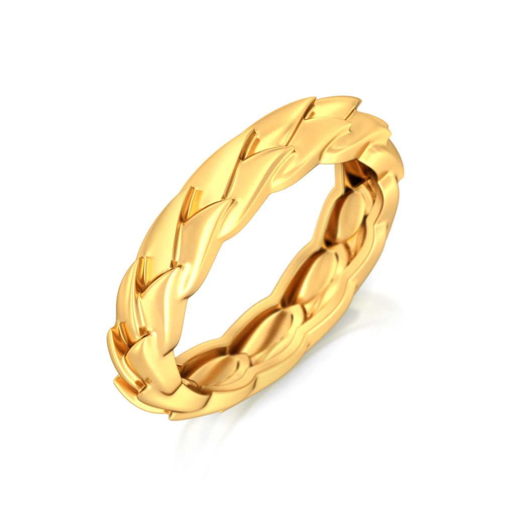 Wing-o-Spring Gold Rings