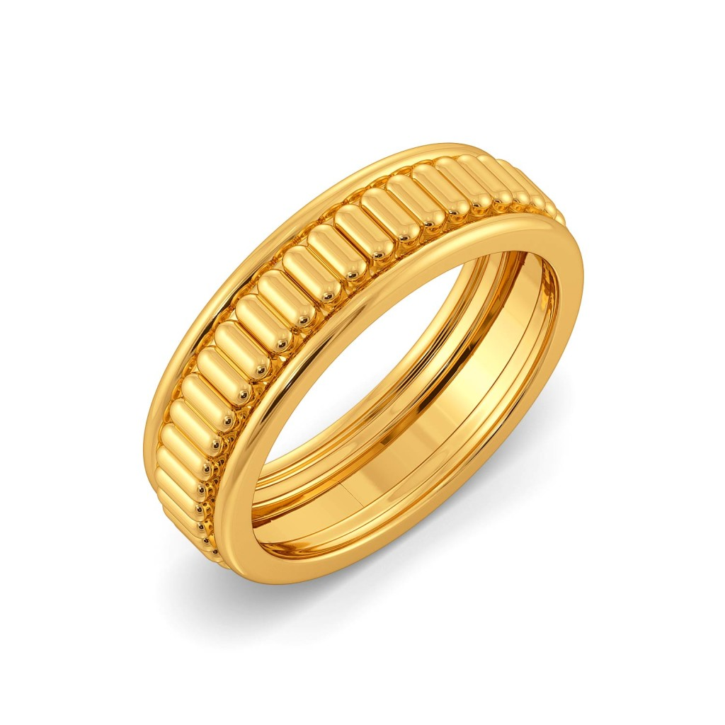 The Satin Weave Gold Rings