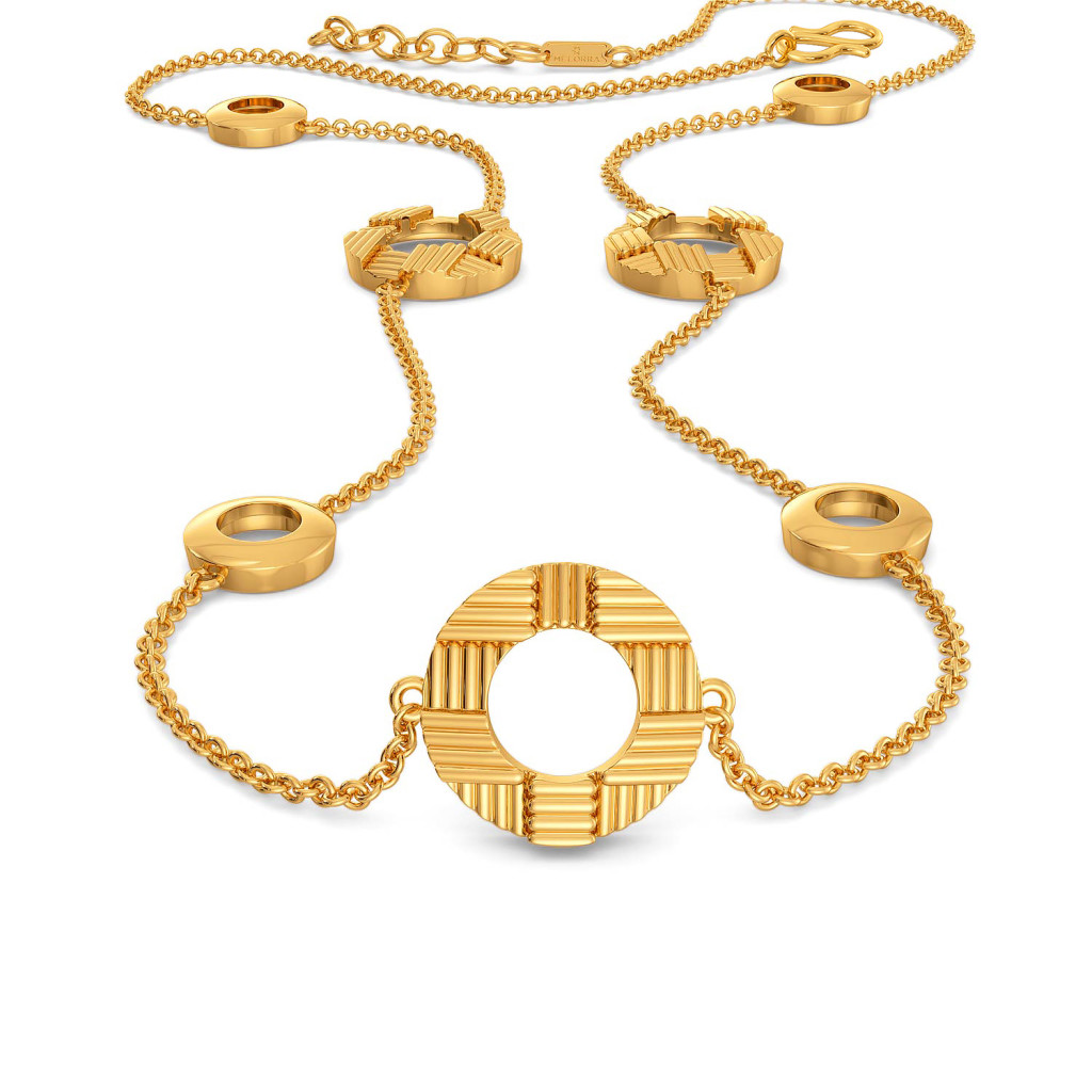 The Satin Weave Gold Necklaces