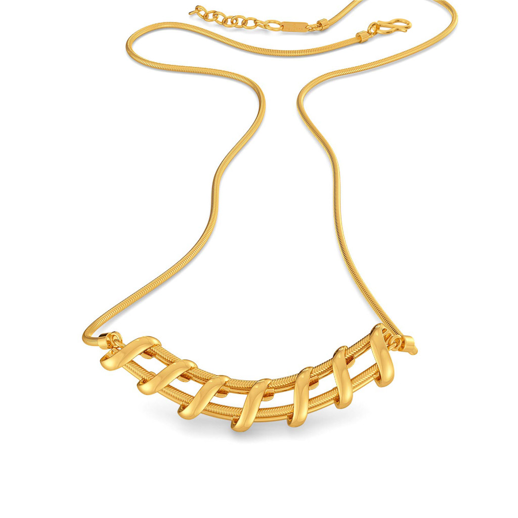 The Leno Weave Gold Necklaces