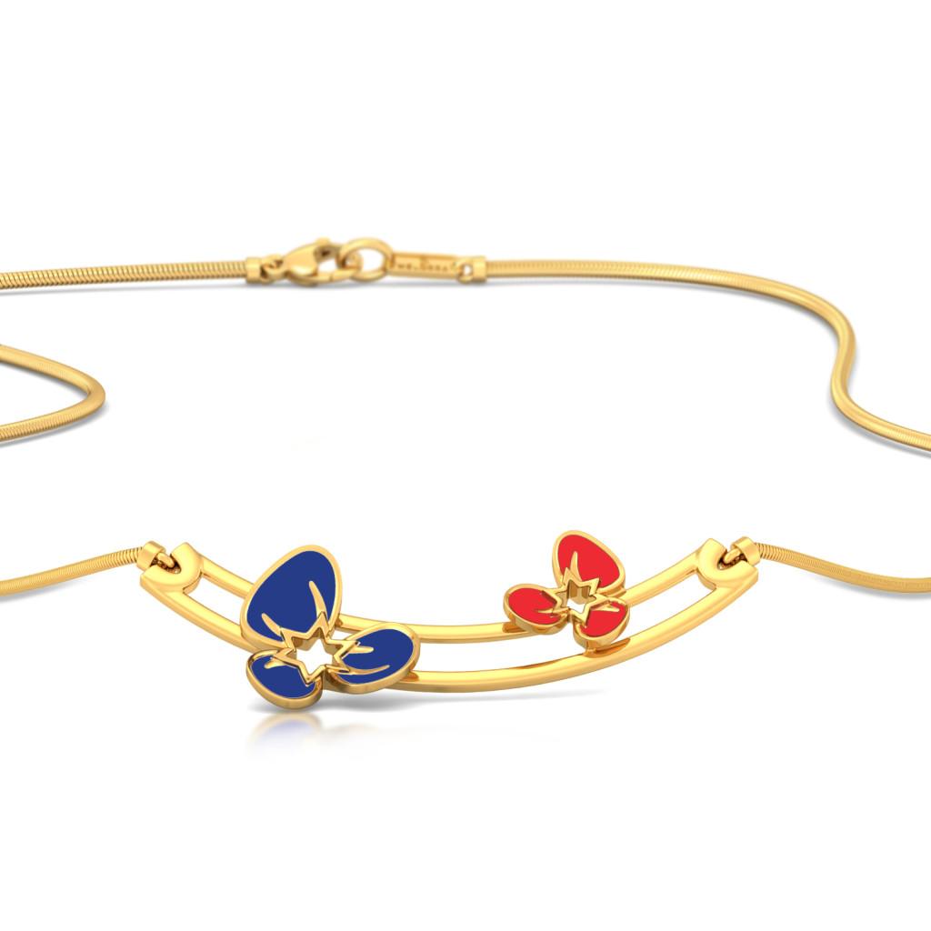Flamboyant Florals Gold Necklaces