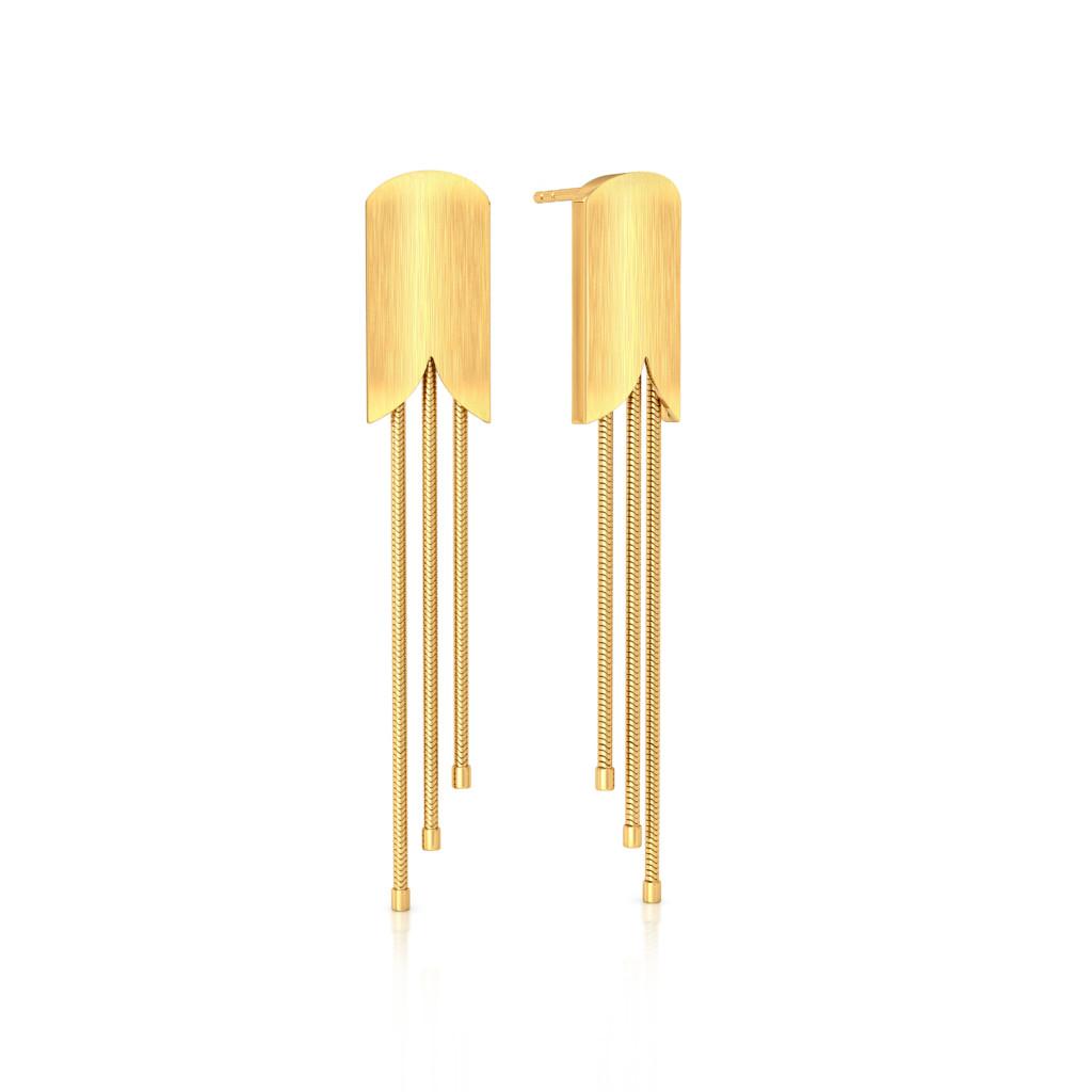 Satin Camber Gold Earrings