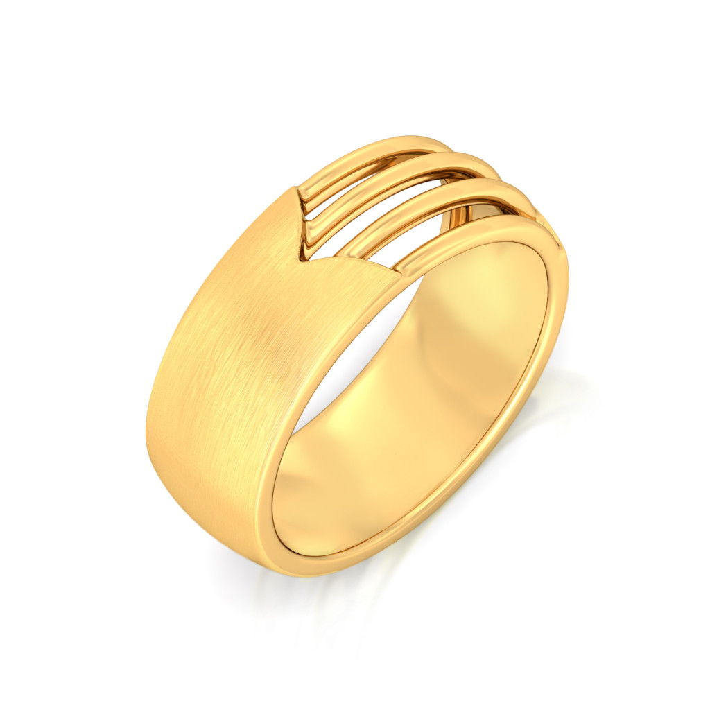 Satin Camber Gold Rings