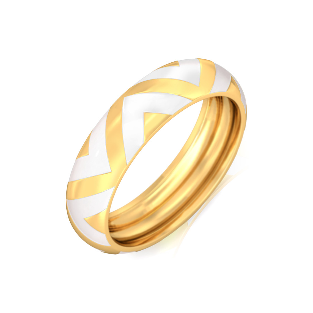 The Golden Chevron Gold Rings