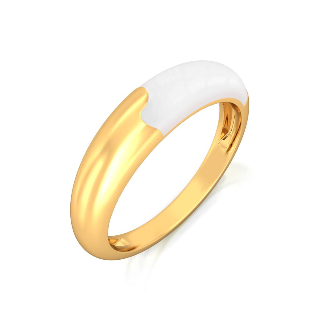 The Yin To Yang Gold Rings