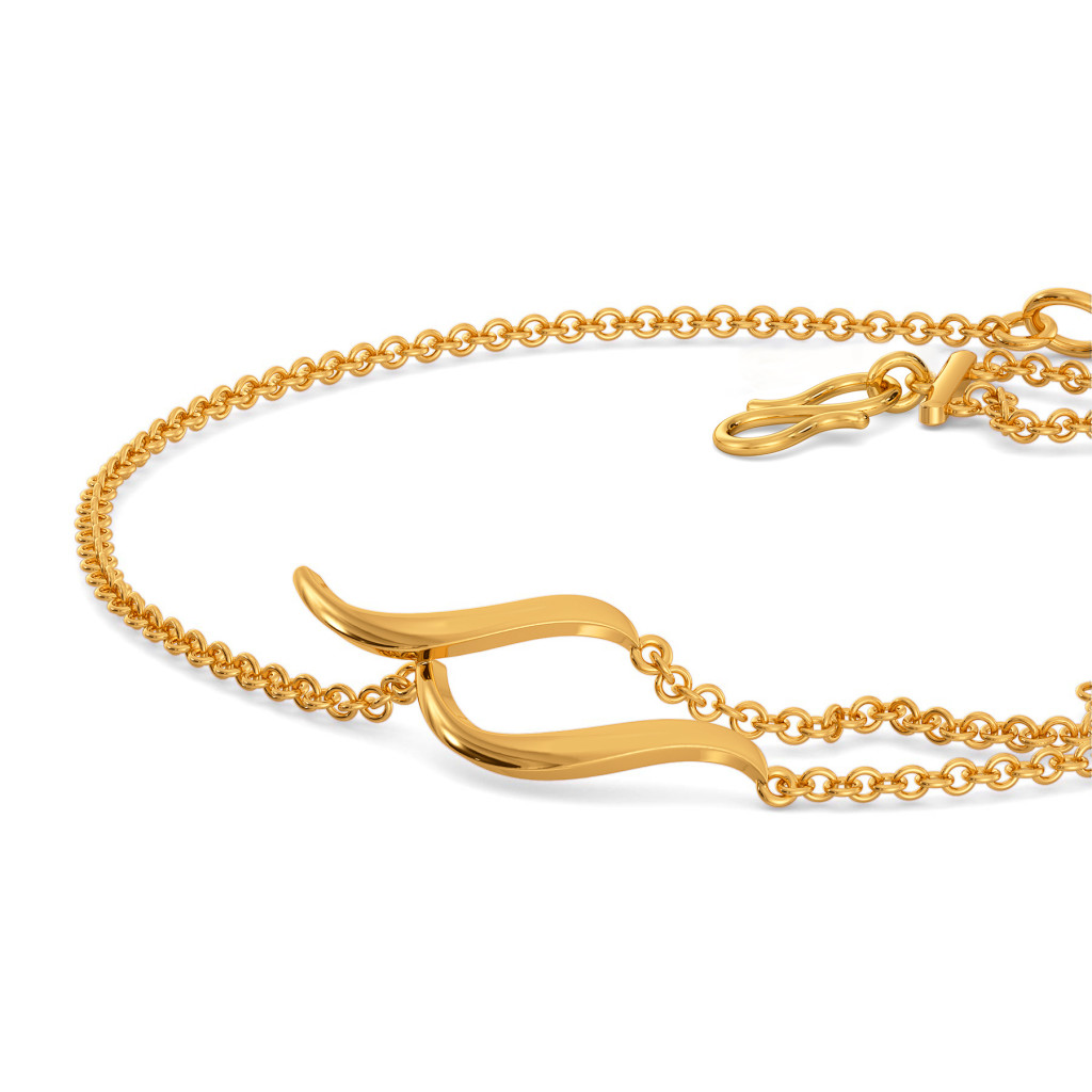 Extra Edgy Gold Bracelets