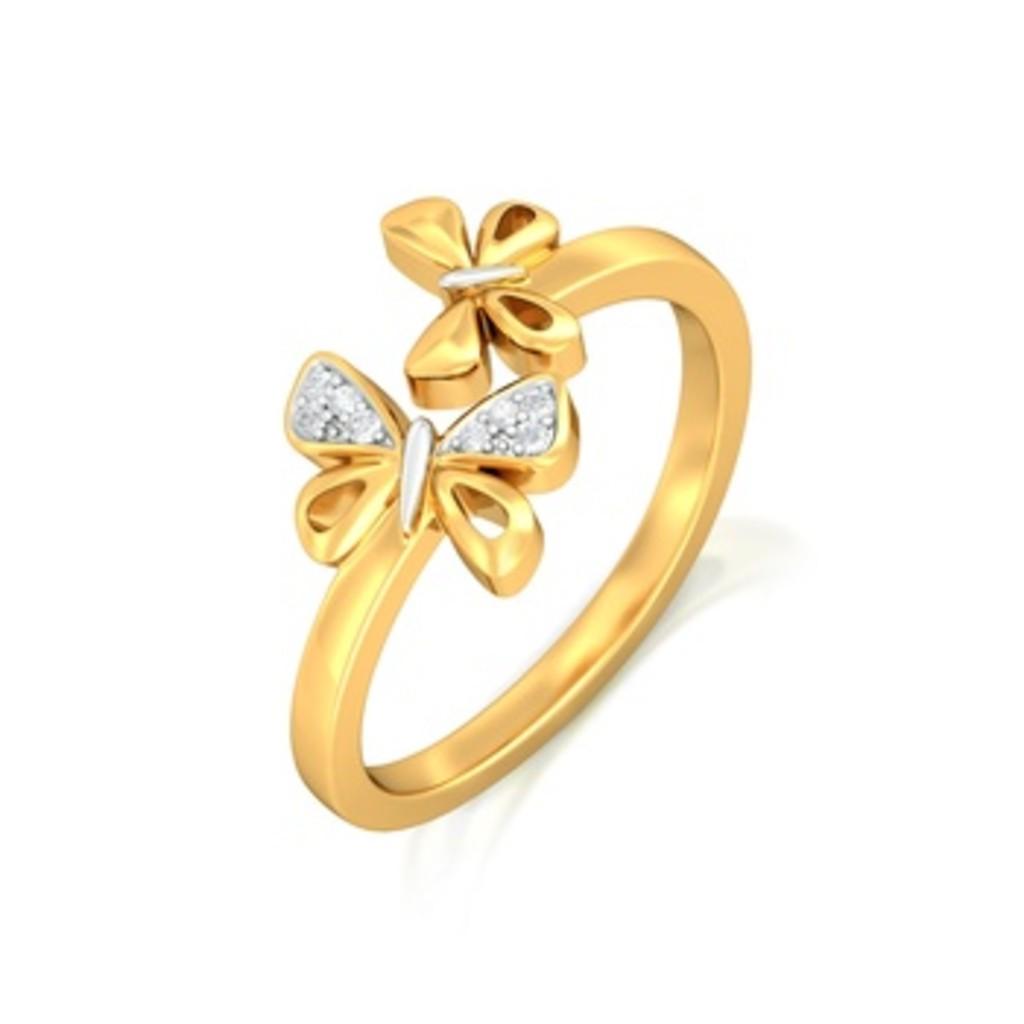 Flirty Flutters Diamond Rings