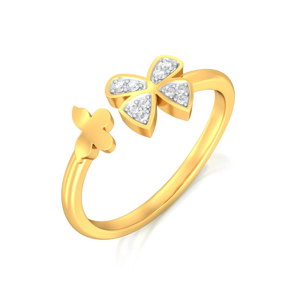 Open Wings Diamond Rings
