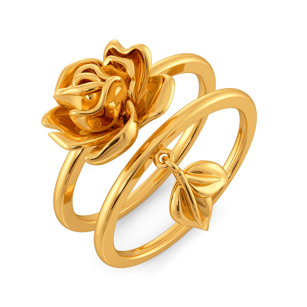 Sinister Bloom Gold Rings