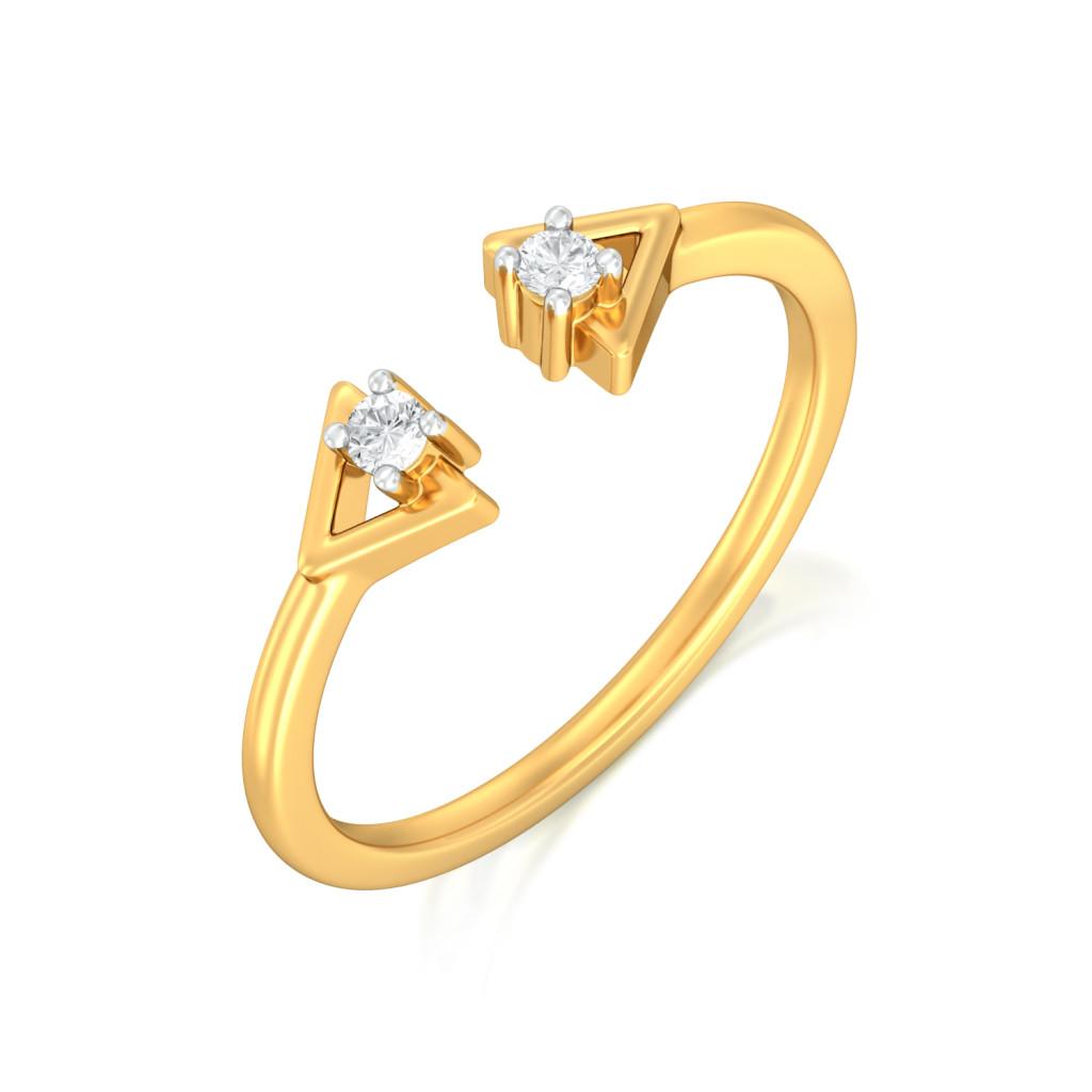 Tricky Trinity Diamond Rings