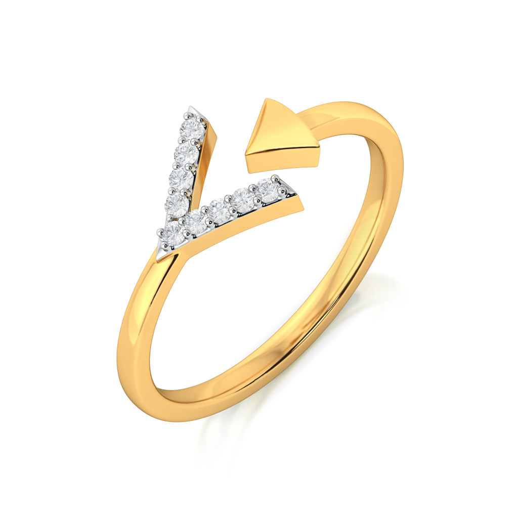 Fab On Point Diamond Rings