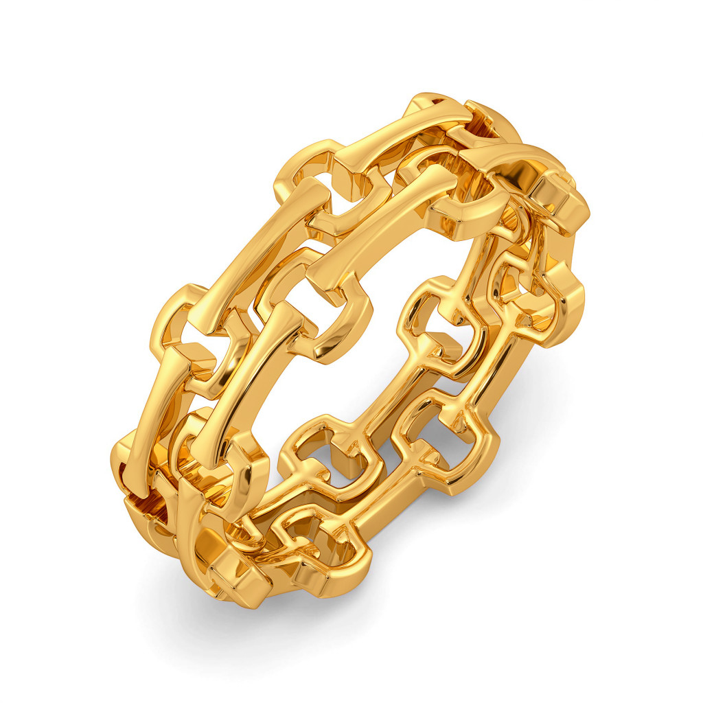 Mesh Muse Gold Rings