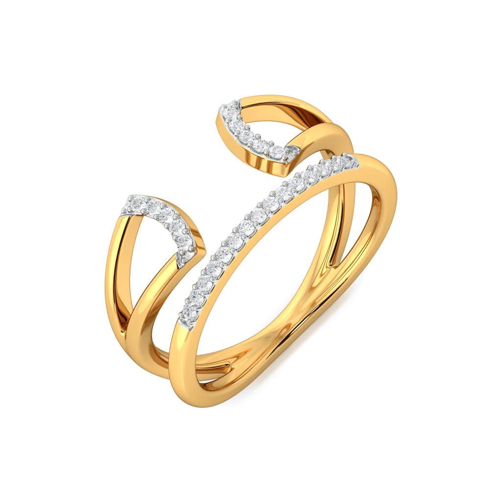 Trigon Frills Diamond Rings