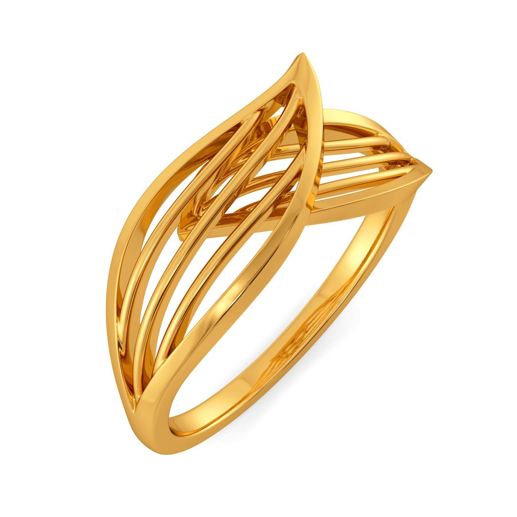 Petal Play Gold Rings