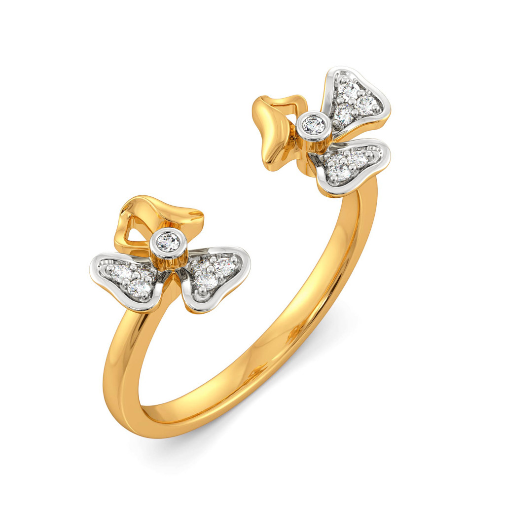 Floral Finds Diamond Rings