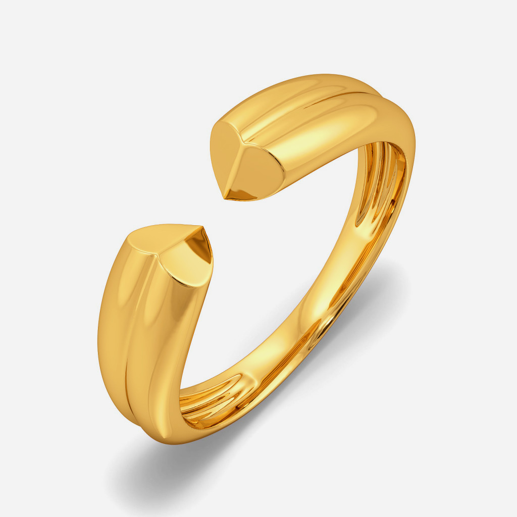 Peek-a-boo Gold Rings
