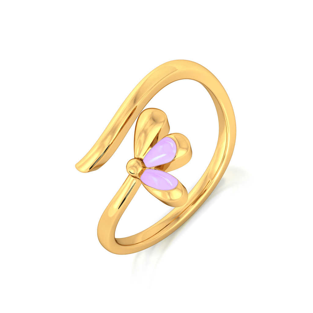 Mauve Lite Gold Rings