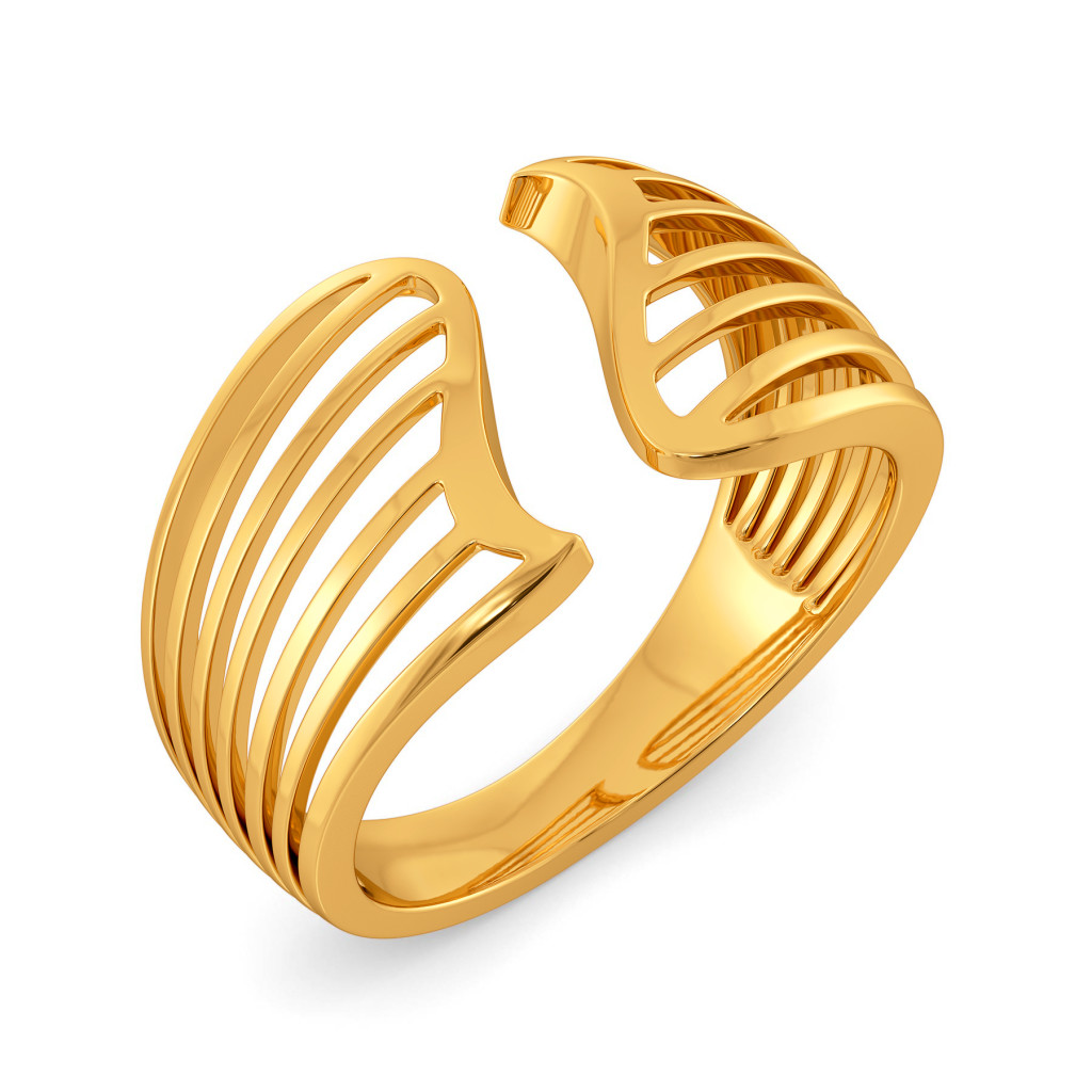 Whimsical Play Gold Rings
