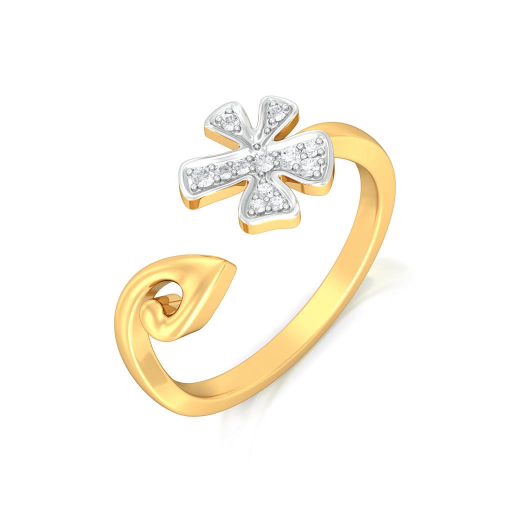 Dainty Drama  Diamond Rings