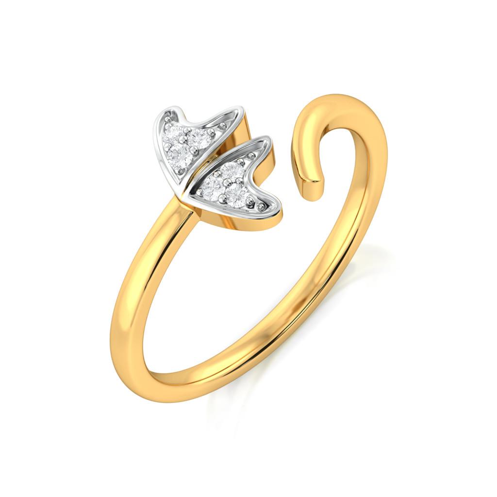 Flower Devour  Diamond Rings