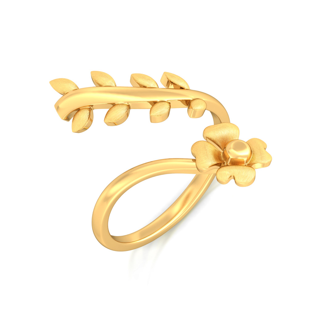 Floral Crown Gold Rings