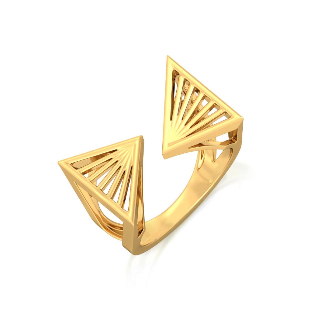 Prism Break Gold Rings