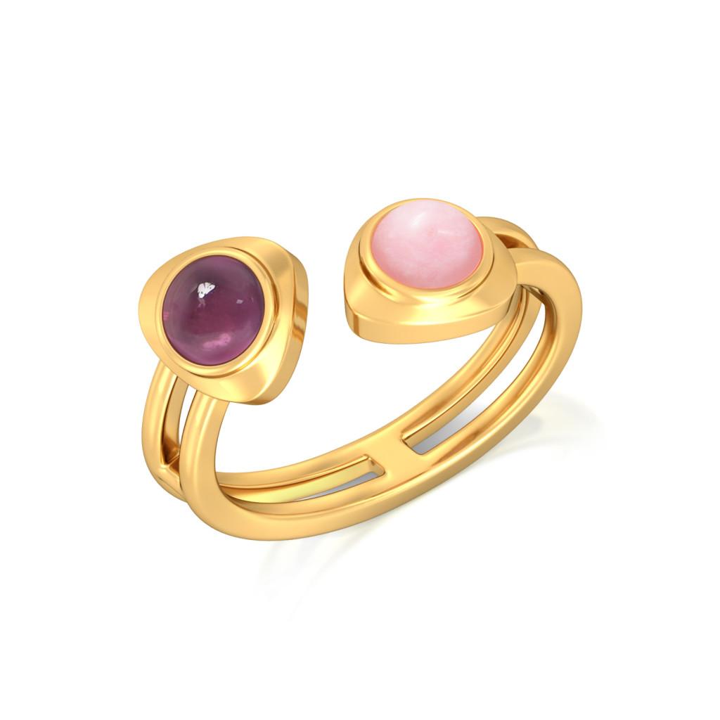 Wild Flamingo Gemstone Rings