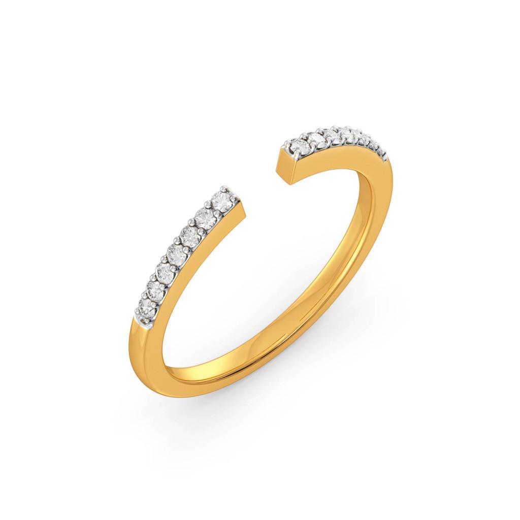 Open Ratio Diamond Rings