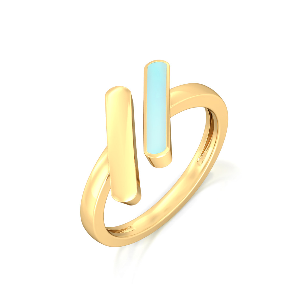 Barcode Gold Rings