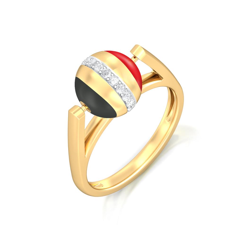 Beach Ball Diamond Rings