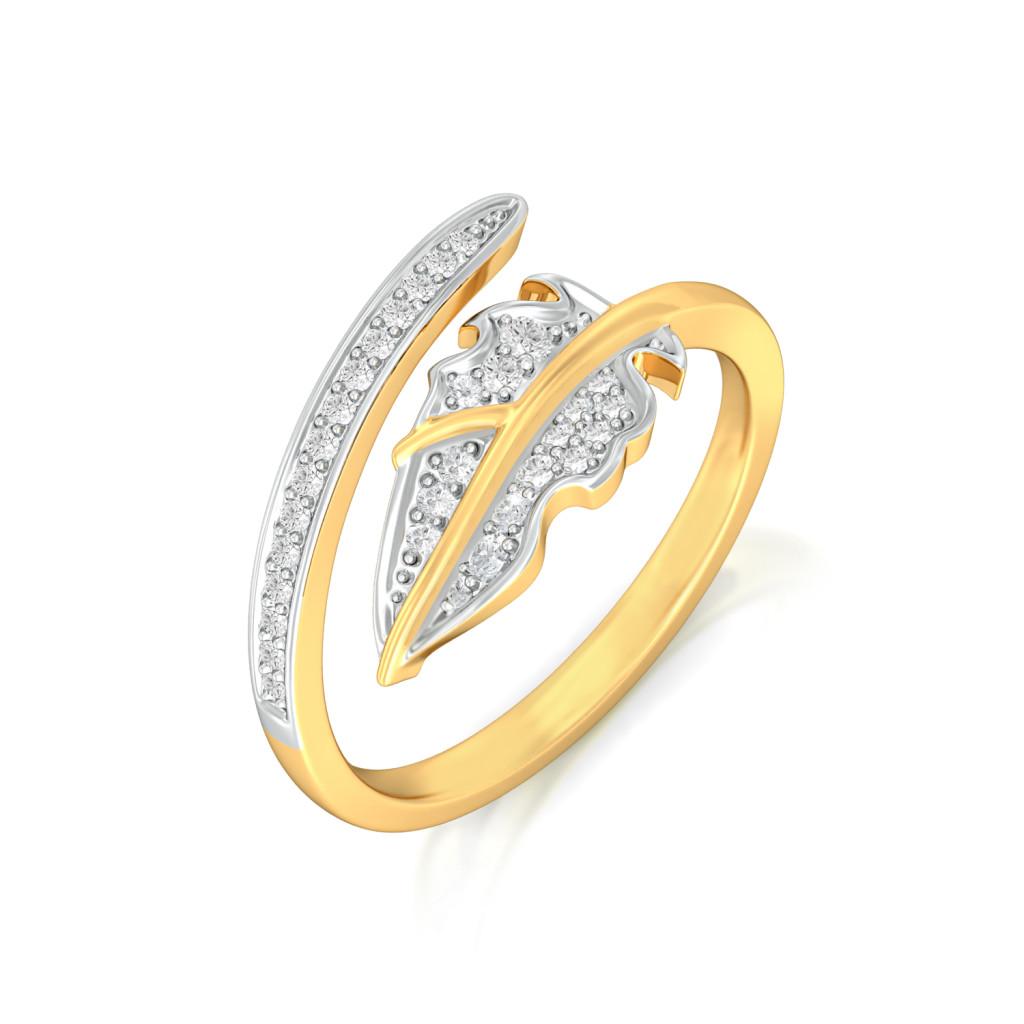 Balmy Palm Diamond Rings
